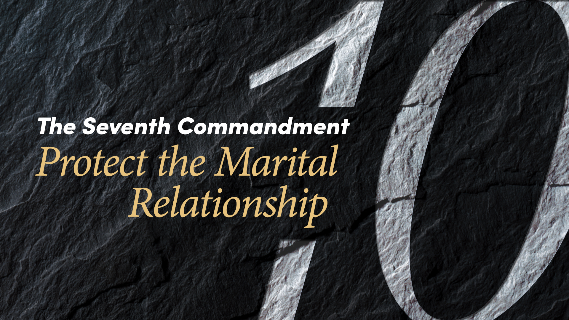 the seventh commandment of the bible Bible book series doctrinal series word  the first and second commandments go hand in  the fifth commandment is reiterated by the apostle paul who describes.