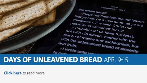 Days of Unleavened Bread 2020