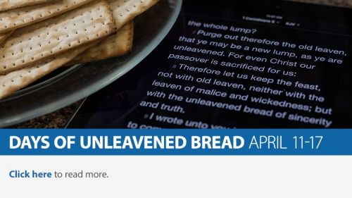 Days of Unleavened Bread 2017
