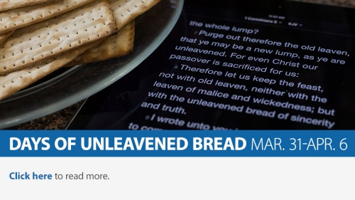 Days of Unleavened Bread 2018