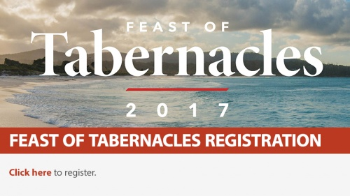 2017 Feast of Tabernacles Registration