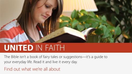 United in Faith Banner