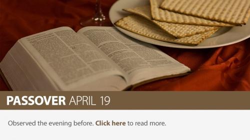 2019 Passover