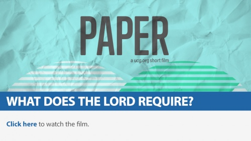 UCG Short Film: Paper