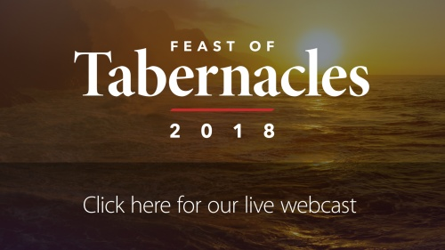2018 Feast of Tabernacles Webcast