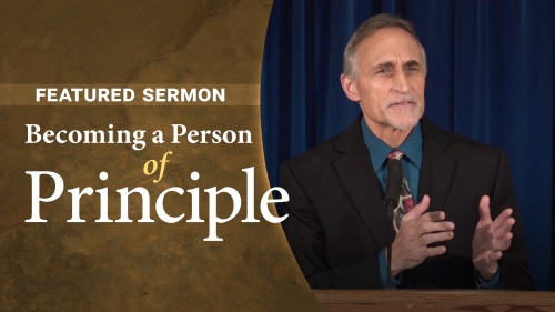 Sermon - Becoming a Person of Principle