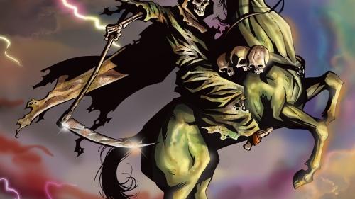 Pale horse of death described in Revelation 6.
