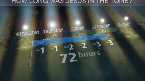 How long was Jesus in the tomb?