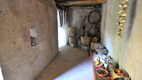 A reconstructed Israelite house.