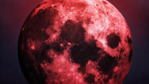 Photo illustration of a blood moon.