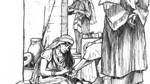 Illustration of Mary and Martha