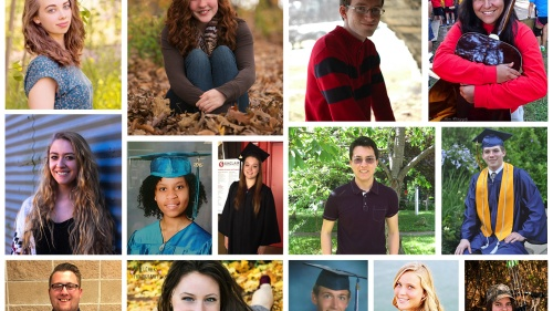 A collage of senior photos from last year's United News Senior edition.