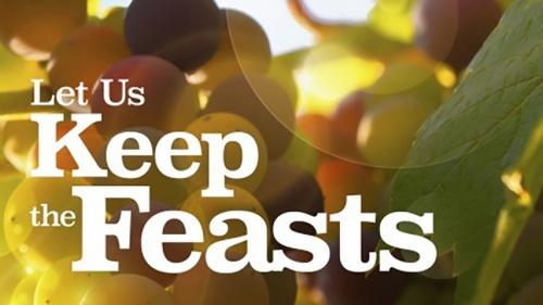 "This is the title graphic of the ""Let Us Keep the Feast"" Bible study series."