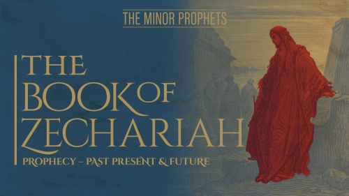 This is the title graphic for the Bible study about Zechariah.