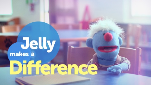 "Screen graphic of UCG short film, ""Jelly Makes a Difference."""