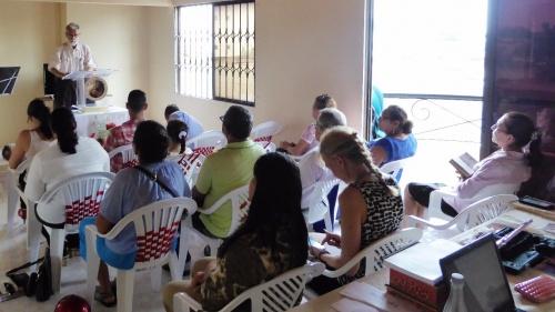 Church services in Monteria, Colombia.