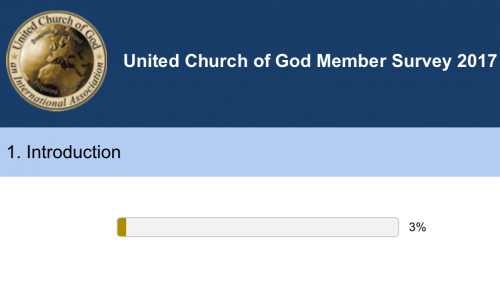 This is a screen shot of the UCG member survey.