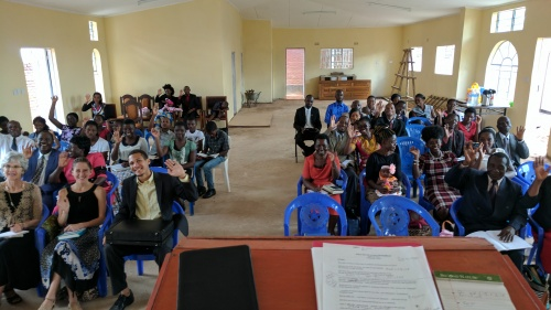Lilongwe, Malawi brethren in our new (not yet finished) hall on the Sabbath before the Passover.
