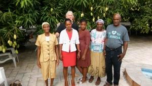 Chuck Smith with brethren in Haiti.