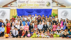 Group photo of Feast goers in Albuera, Leyte, Philipines