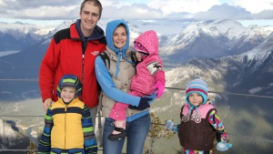 Family at the Feast of Tabernacles in Canmore, Alberta.