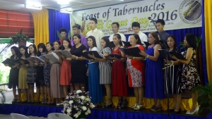 Choir at the Feast in Davao, Philippines.