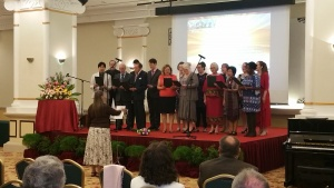 the choir at the Feast in Penang, Malaysia.