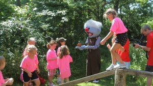 Camp Ironwood had Jelly come to visit and join in the activities with campers!