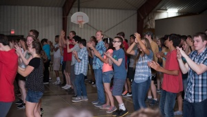 Campers enjoying the first dance at Camp Pinecrest.