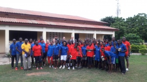 Group shot of all who attended camp in Ghana.