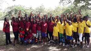 Campers and staff at the Ghana Youth Camp.