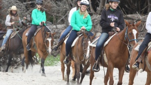Horseback riding at Northwest Camp.