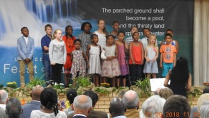 Children's choir in Margate, South Africa.