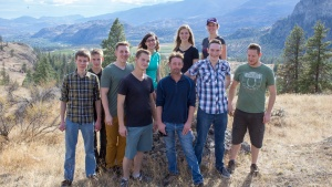 Young adults in Osoyoos, British Columbia.