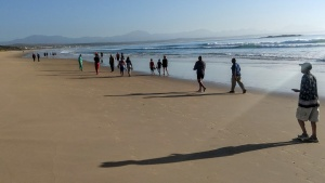 Morning walk on the beach at Mossel Bay.