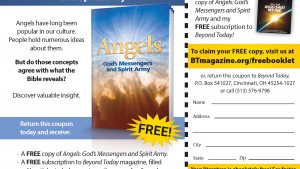 This is a graphic of the Angels booklet advertisement.