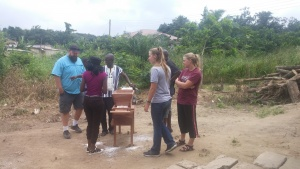 cassava mill and group of people