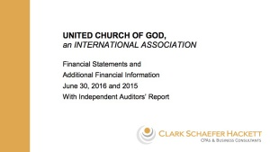 Financial statements for the 2015-2016 year.