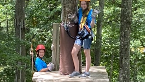 Campers spent the week together doing outdoor activities such as ziplining, white water rafting and hiking.