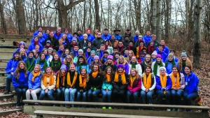 Campers and staff pose at Winter Camp in East Troy, Wisconsin.