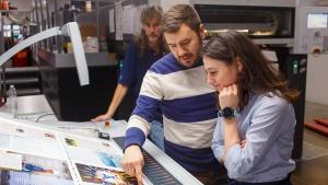 Editorial Staff Takes Tour of Hopkins Printing