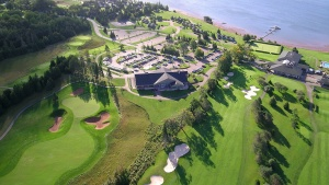 Aerial shot of the Rodd Brundenell Resort where the Feast of Tabernacles will be held in PEI.