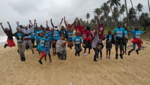 Youth at the UYC camp in Nigeria.