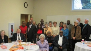 Church members at the senior dinner.