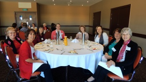 Mrs. Kubik, at the right, with attendees at the Gold Coast, Australia, leadership conference.