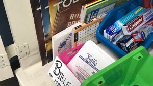 """The Nashville's Service Project """"Free Pantry"""" items."""