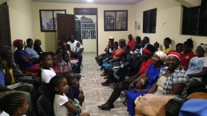 The new congregation in Joseph Jean's home located in Mirebalais, Haiti. The high attendance is 85.