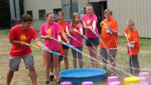 Northwest preteen campers participate in an activity.