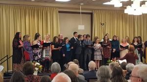 Choir at Northwest Winter Family Weekend.