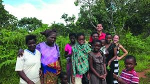 Brethren from Mzuzu with volunteers Brennan and Michala Hilgen.